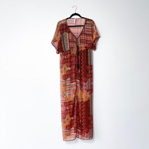 Xhilaration Boho Beaded Maxi Dress